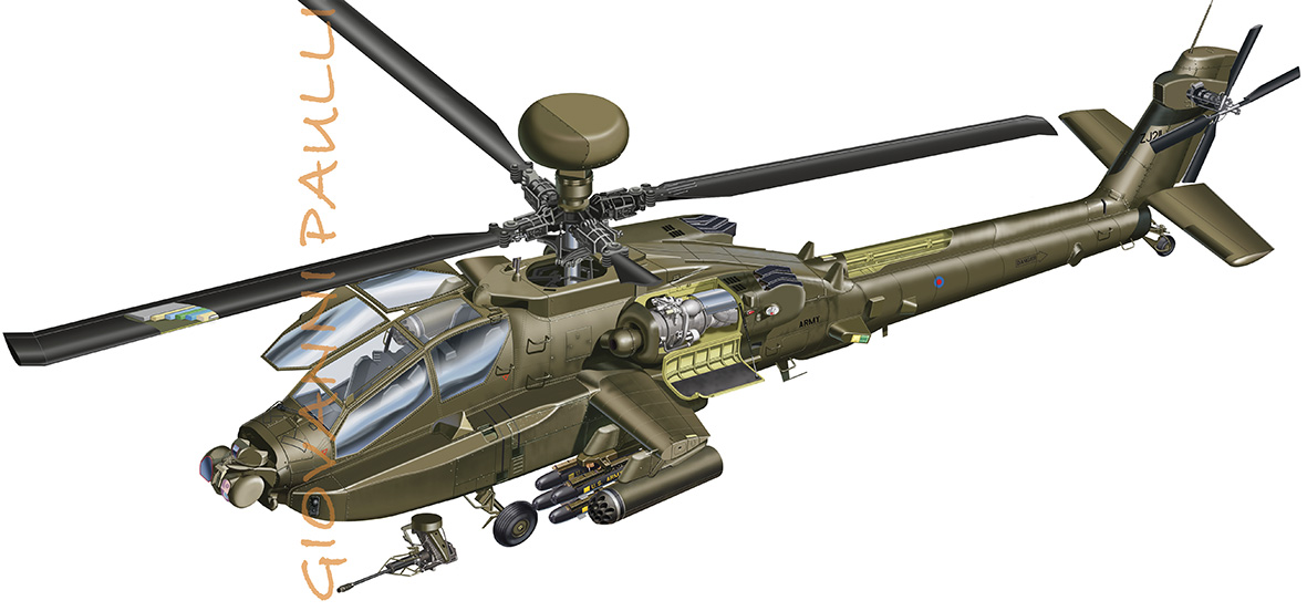 Anti tank helicopter AH-64D long bow